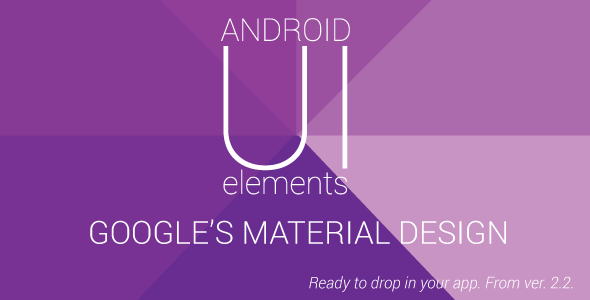 CodeCanyon Material Design UI Android Template App 9858746