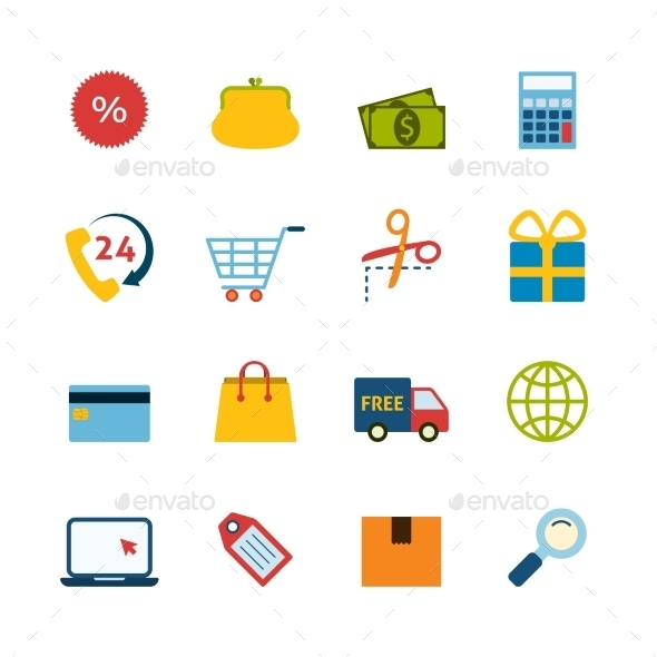 GraphicRiver Shopping Icons 9858767