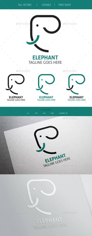 GraphicRiver Elephant Clean Logo 9819406