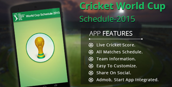 CodeCanyon Cricket World Cup Schedule-2015 9858819