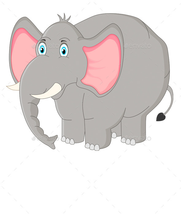 GraphicRiver Cartoon Elephant 9858936