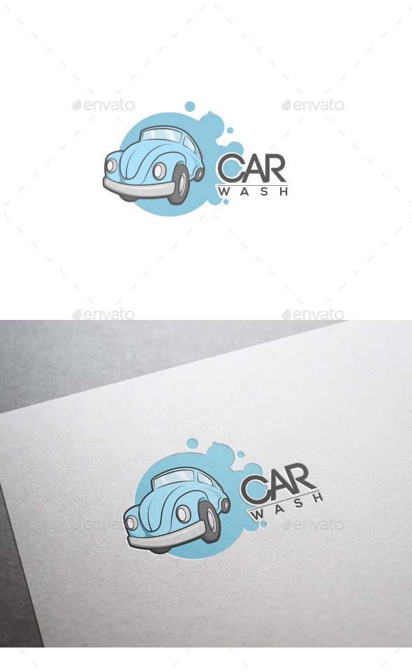 GraphicRiver Car Wash Logo 9859062