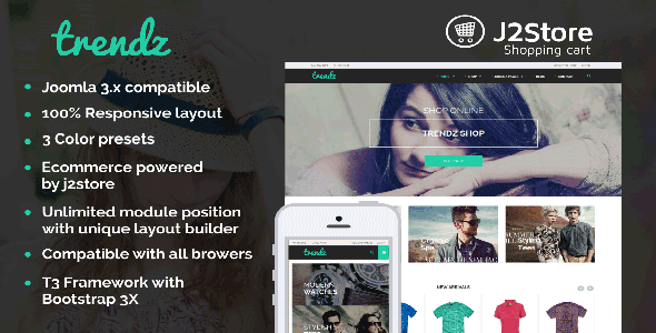 ThemeForest TP Trendz Joomla E-commerce Template 9794519