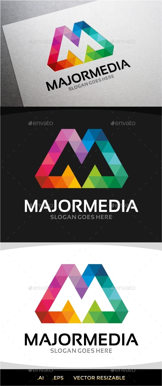 GraphicRiver Majormedia M Letter Logo 9859276
