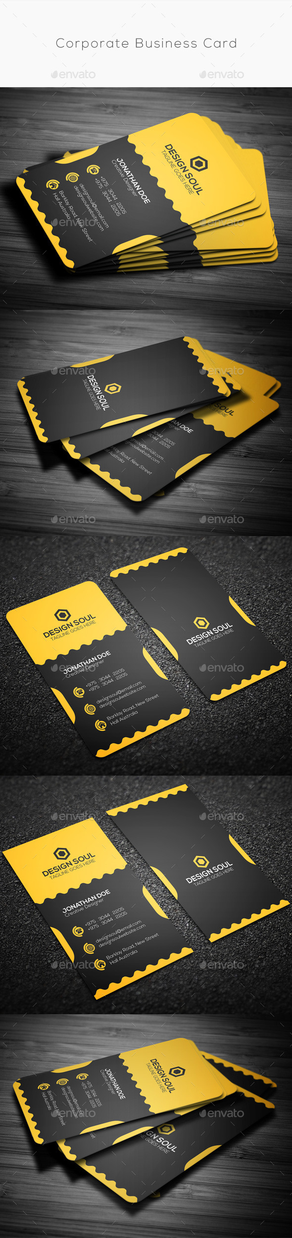 GraphicRiver Corporate Business Card 9859381