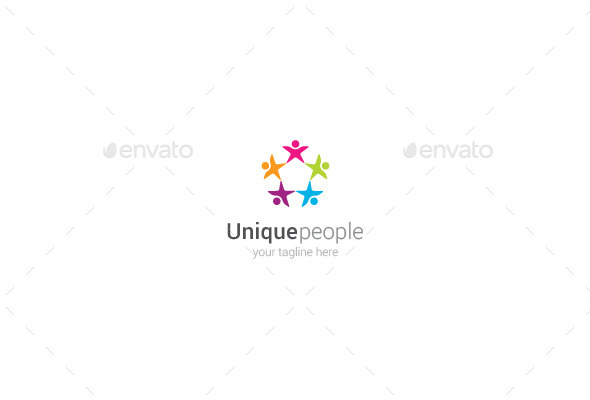 GraphicRiver Unique People Logo 9859394
