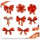Set of Red and Gold Gift Bows with Ribbons - GraphicRiver Item for Sale