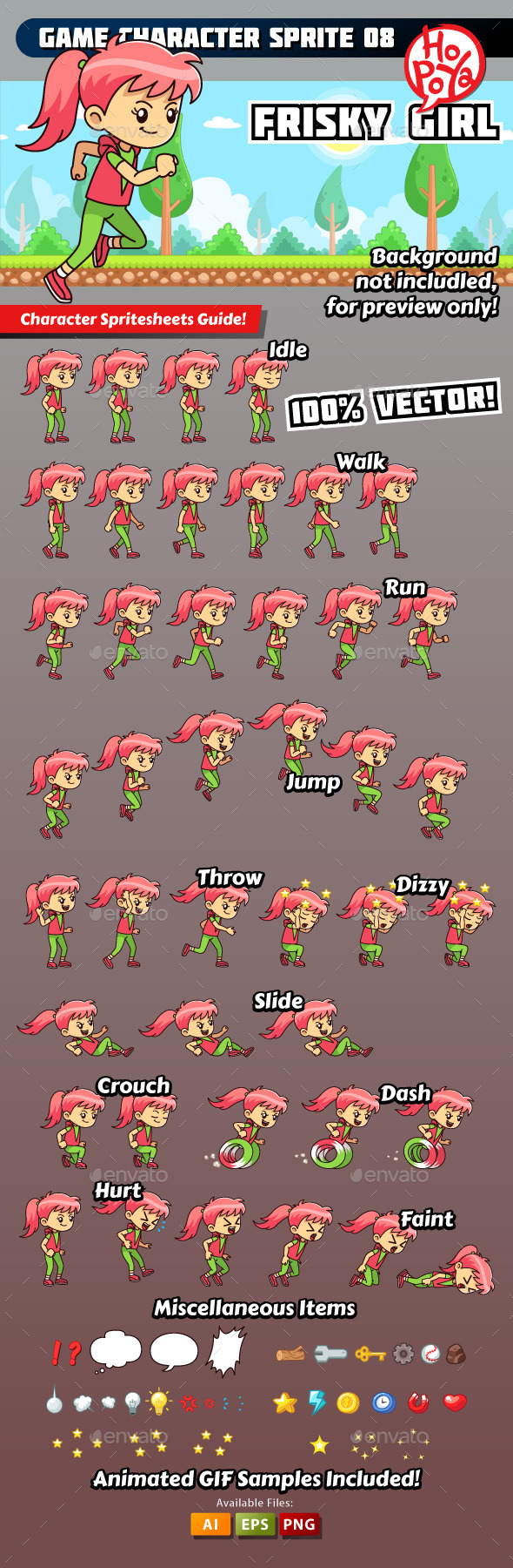 GraphicRiver Game Character Sprite 08 9859593