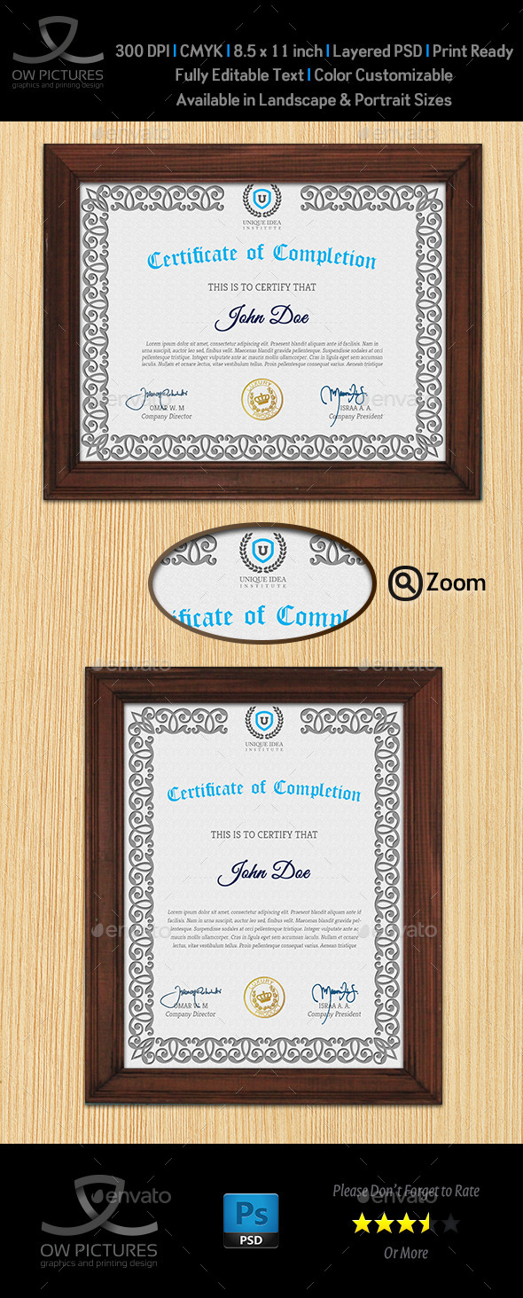 GraphicRiver Multi Purpose Certificates Template Vol.2 9859612
