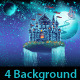 Space Castle with a Waterfall on the Background - GraphicRiver Item for Sale