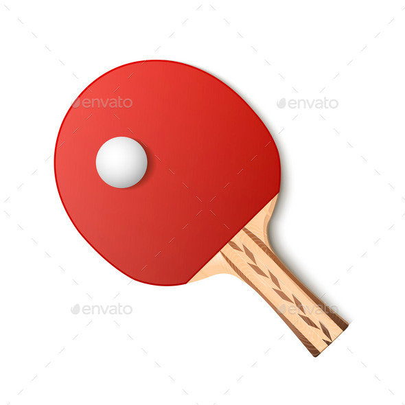 GraphicRiver Ping-Pong Racket 9859662