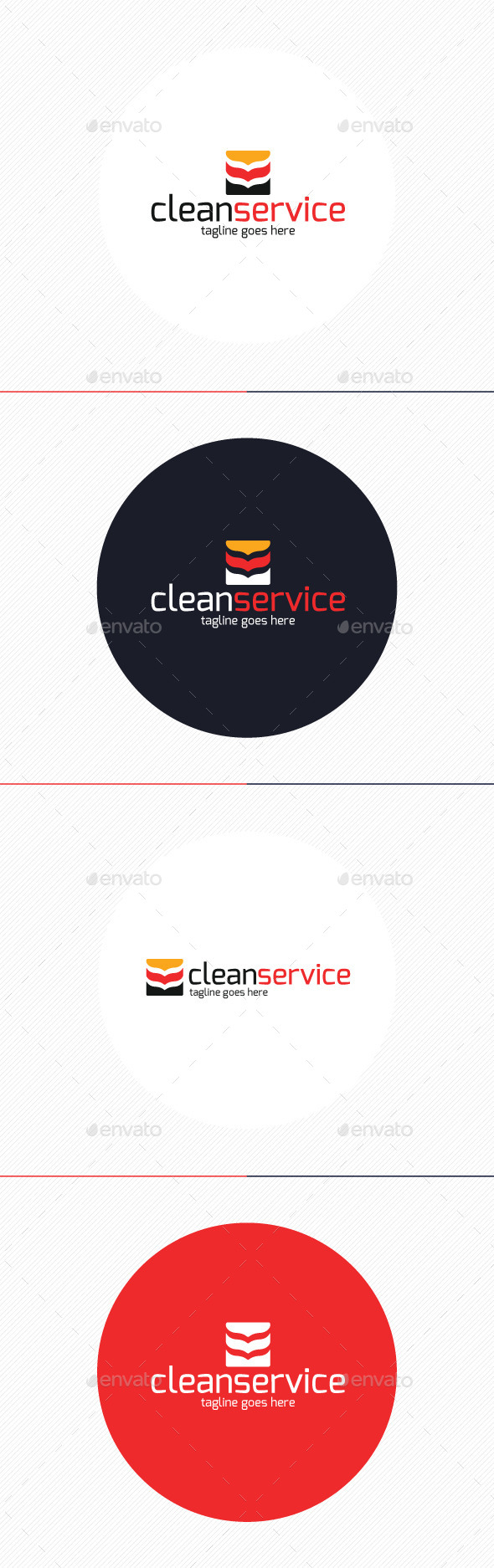 GraphicRiver Clean Service Logo 9859670