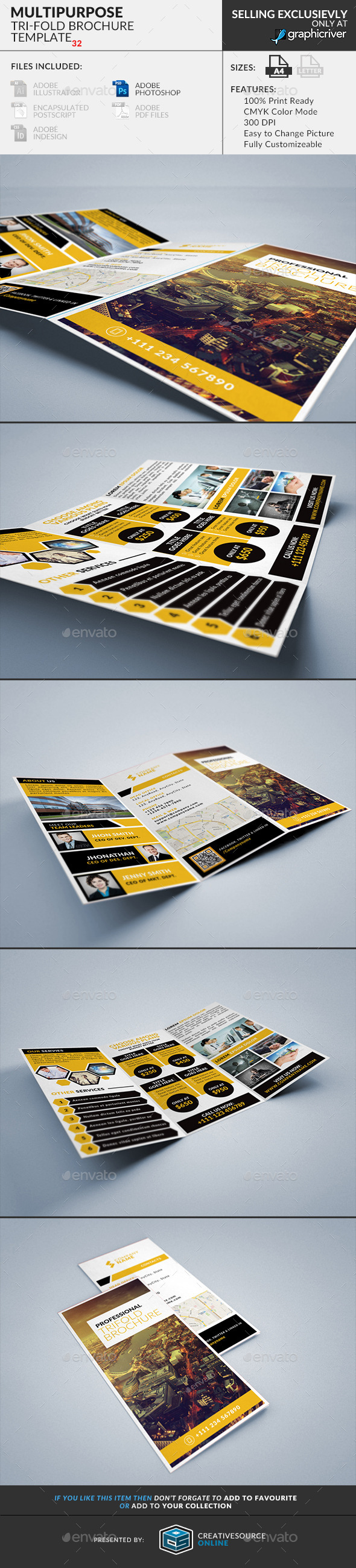 Trifold Brochure 32 Multipurpose