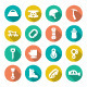 Set Flat Icons of Mountaineering - GraphicRiver Item for Sale