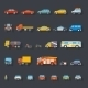 Retro Car Line Icons - GraphicRiver Item for Sale