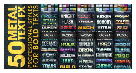 50 Metal Text Effects V2