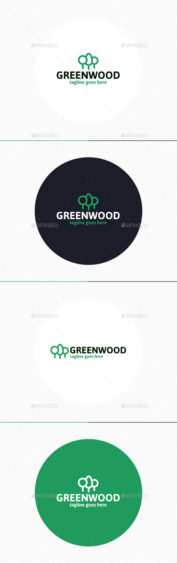 GraphicRiver Green Wood Logo 9860831