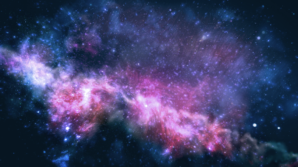Particles In Galaxy-Background