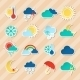 Weather Stickers Set - GraphicRiver Item for Sale
