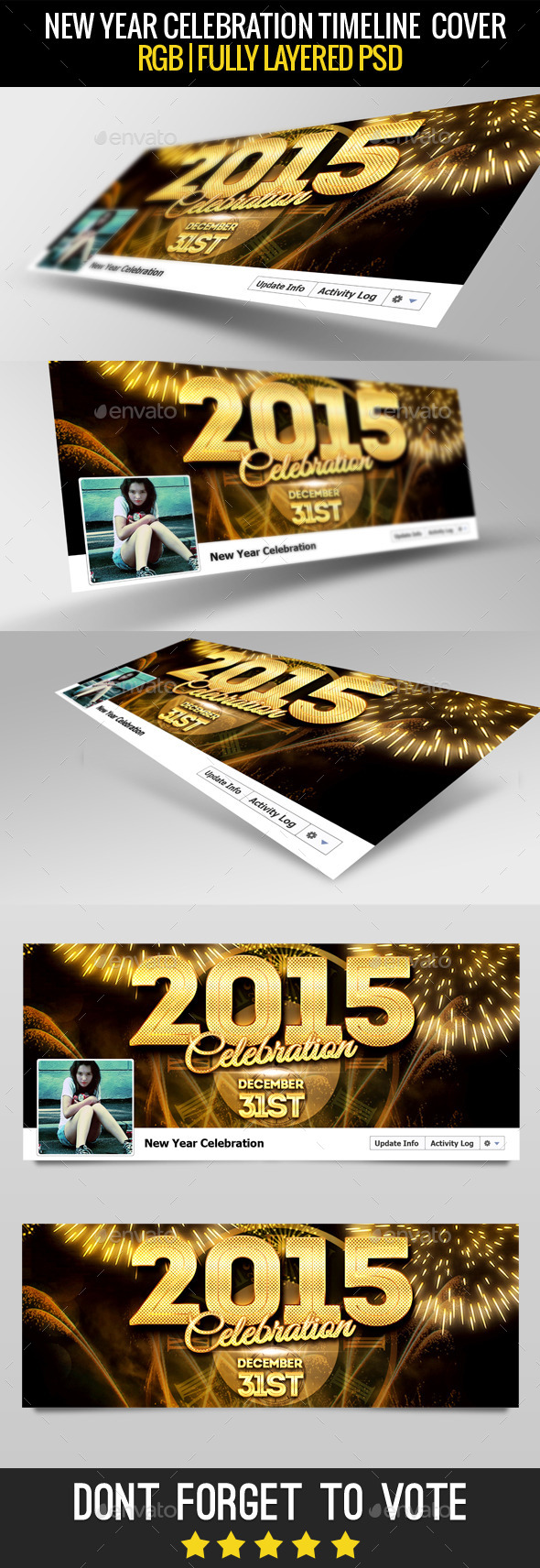 GraphicRiver New Year Facebook Cover 2015 9860881