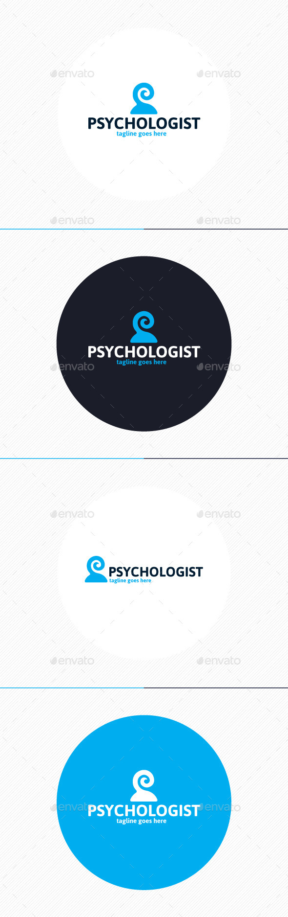 GraphicRiver Psychologist Logo 9860899