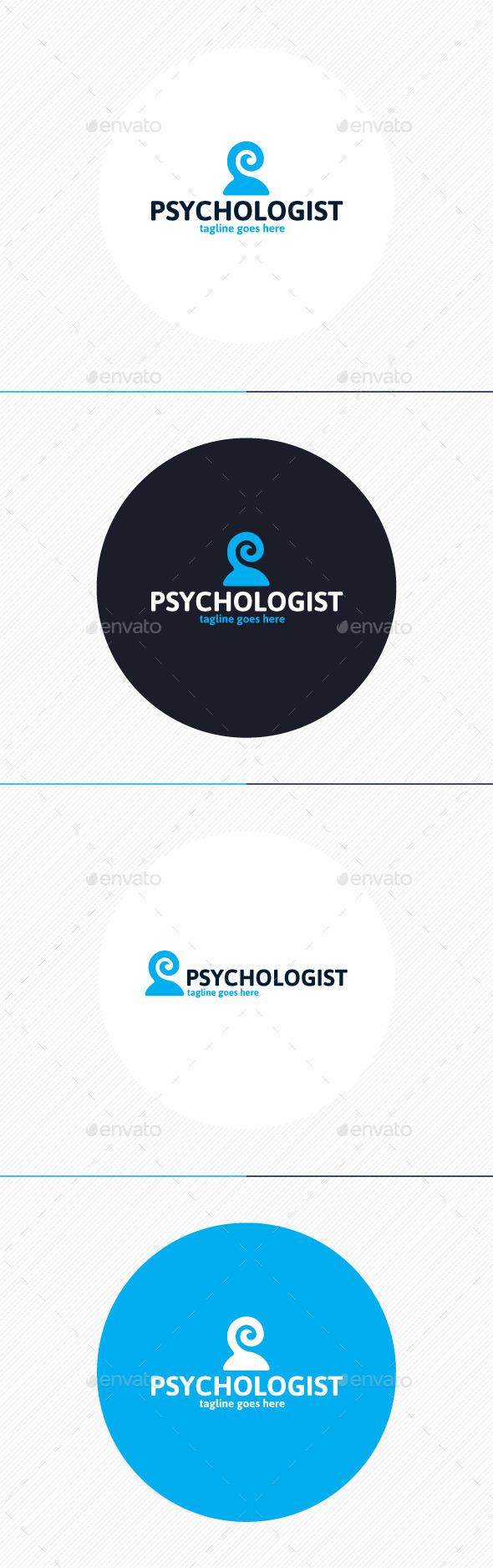 GraphicRiver Psychologist Logo 9860899
