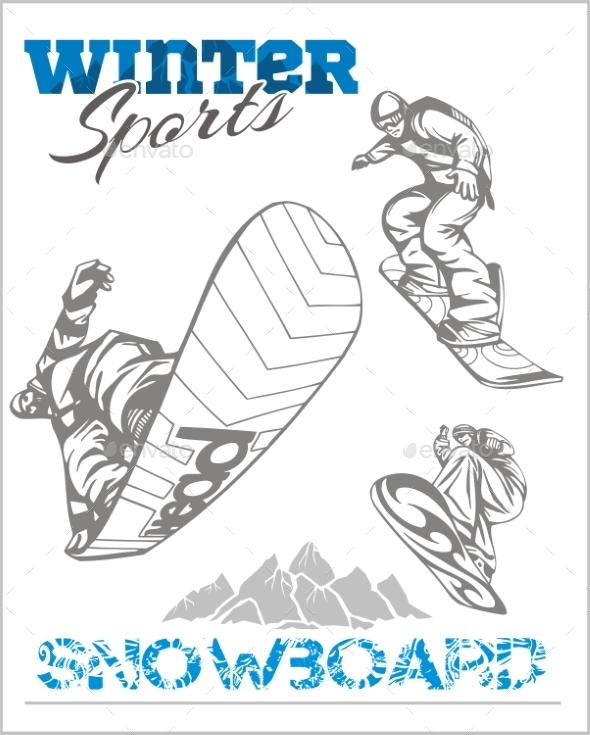 GraphicRiver Snowboard Winter Sport 9860938