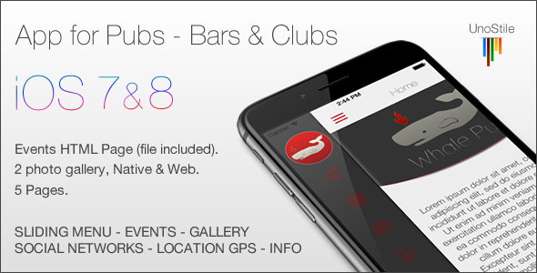 CodeCanyon App IOS Pub & Bars 9860959