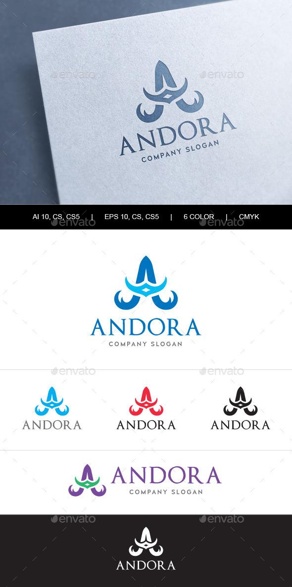 Heraldic Letter A Logo