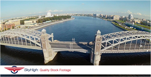 Saint Peterburg Bridge Aerial 5