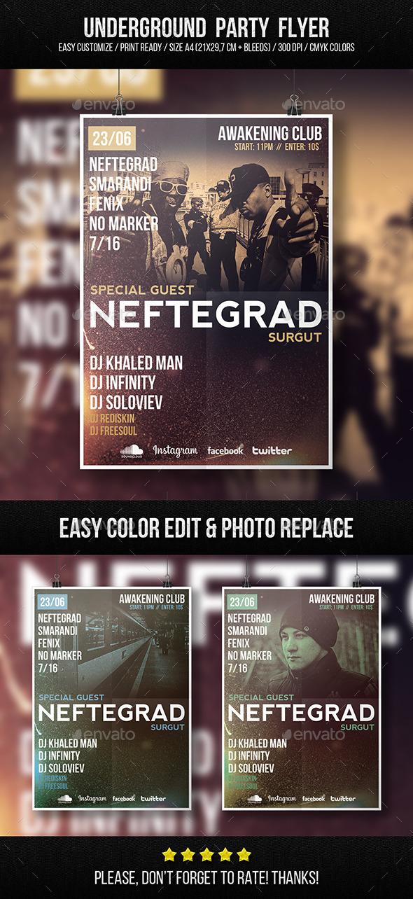 GraphicRiver Underground Party Flyer 9861447