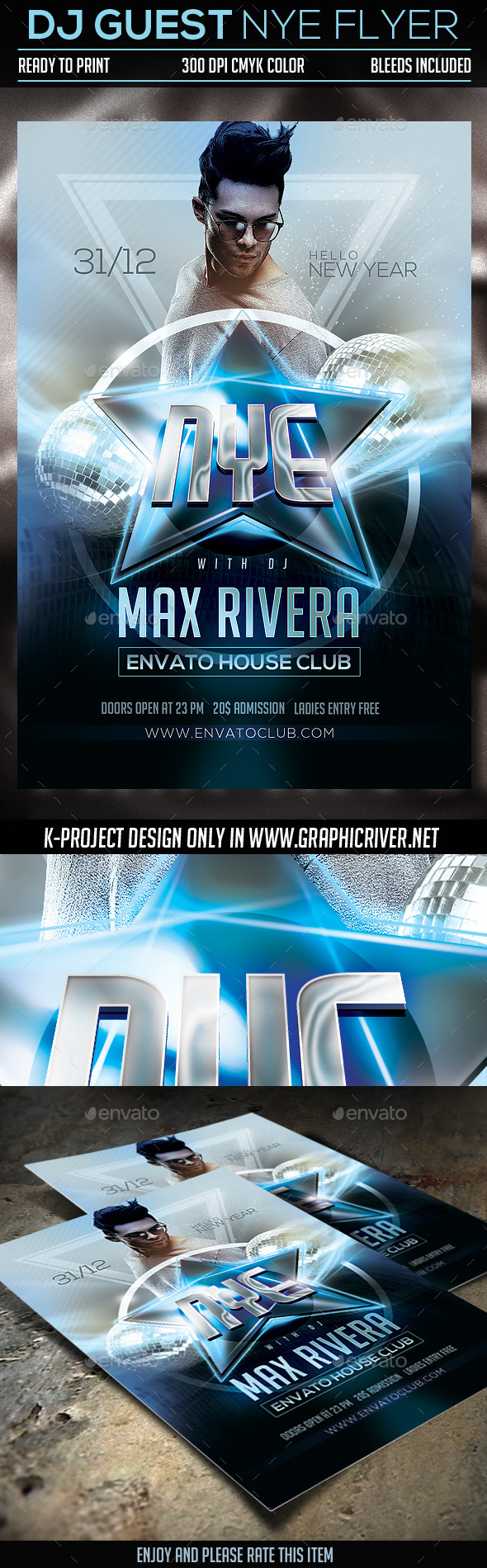 GraphicRiver DJ Guest NYE Flyer 9861497