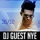 DJ Guest NYE Flyer - GraphicRiver Item for Sale