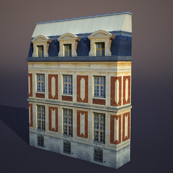 Apartment House #38 Low Poly 3d Model - 3DOcean Item for Sale