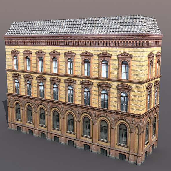 Apartment house #41 Low Poly 3d Model - 3DOcean Item for Sale