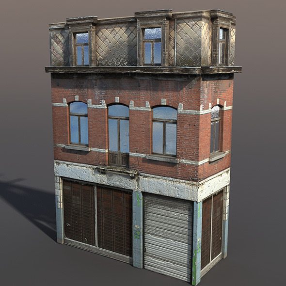 Apartment House #43 Low Poly 3d Model - 3DOcean Item for Sale