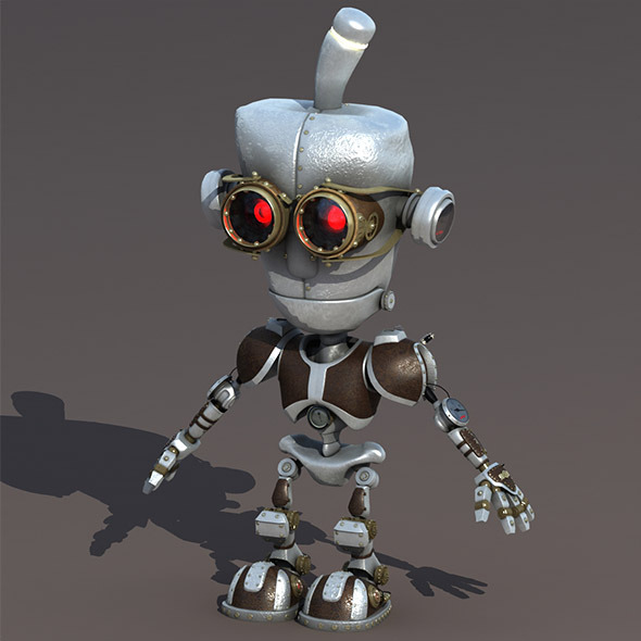 Cartoon Robot Riged - 3DOcean Item for Sale
