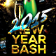 2015 New Year Bash Flyer Template v2 - GraphicRiver Item for Sale