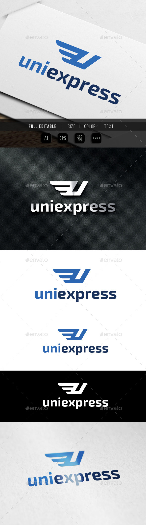 GraphicRiver Express Letter U Wing 9861729