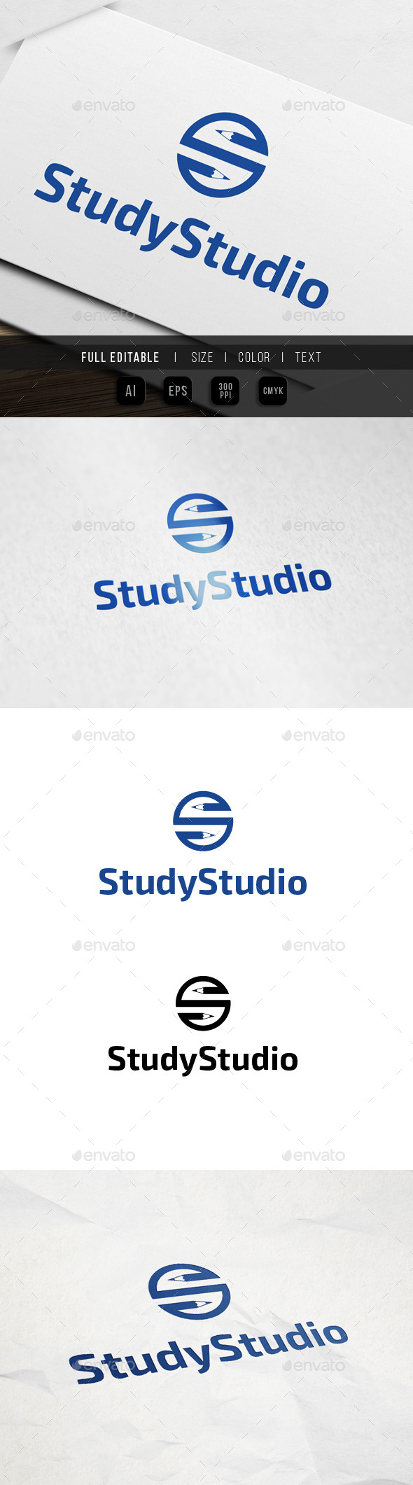 GraphicRiver Pencil Studio Logo 9861732