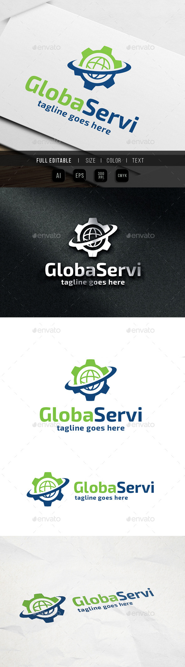 GraphicRiver Global Service Gear 9861733