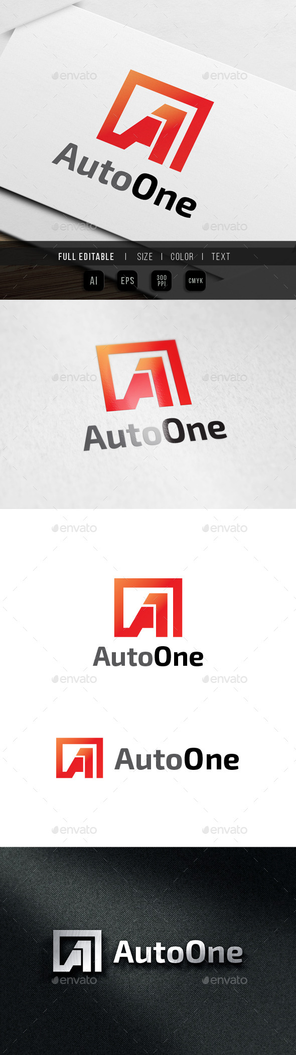 GraphicRiver Auto One Letter A 9861738