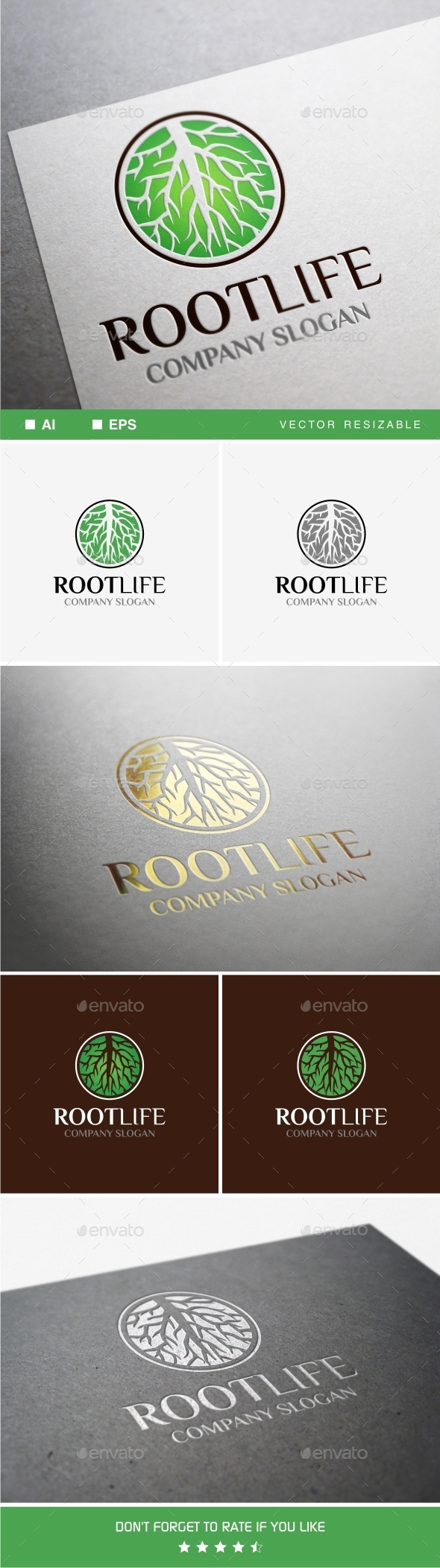 GraphicRiver Root Life Logo 9839517