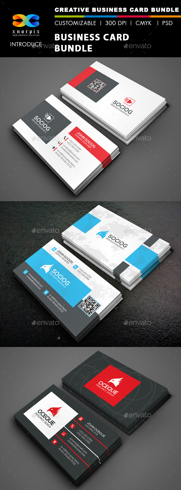 GraphicRiver Business Card Bundle 3 in 1-Vol 45 9861927