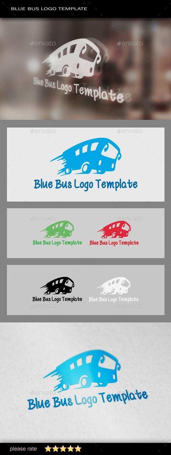 GraphicRiver Blue Bus Logo Template 9861946