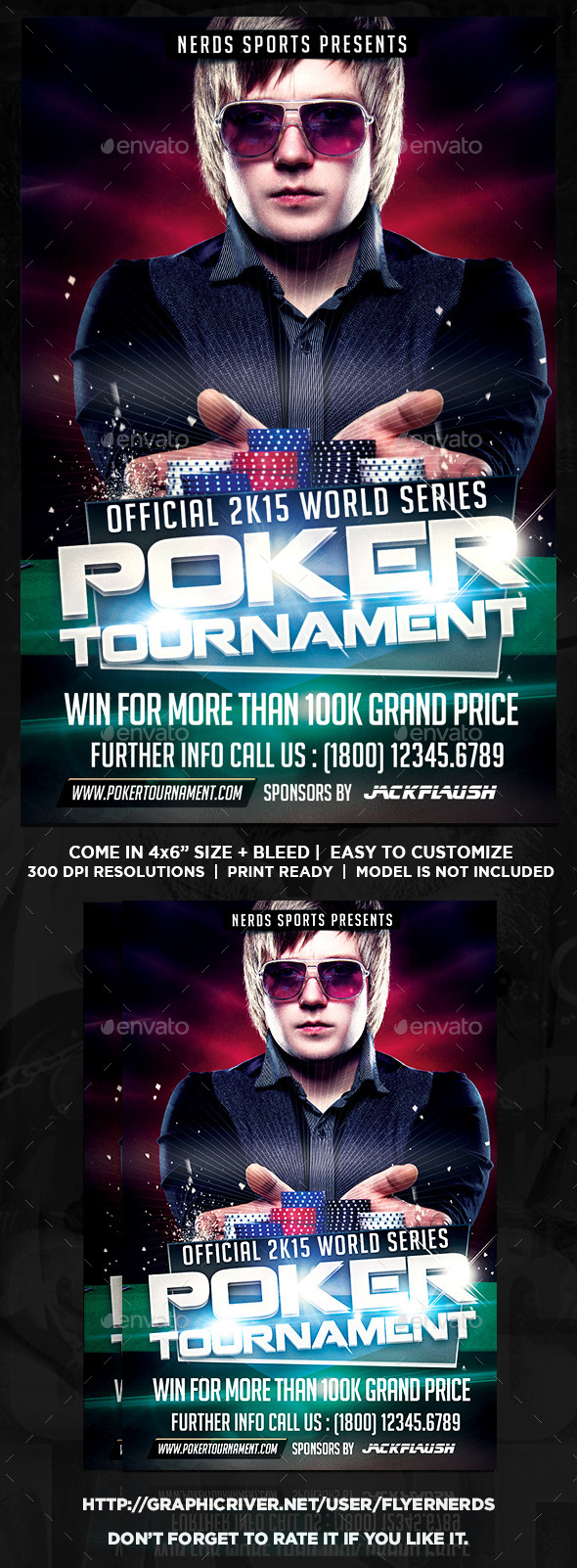 GraphicRiver Poker 2K15 Tournament Sports Flyer 9862007