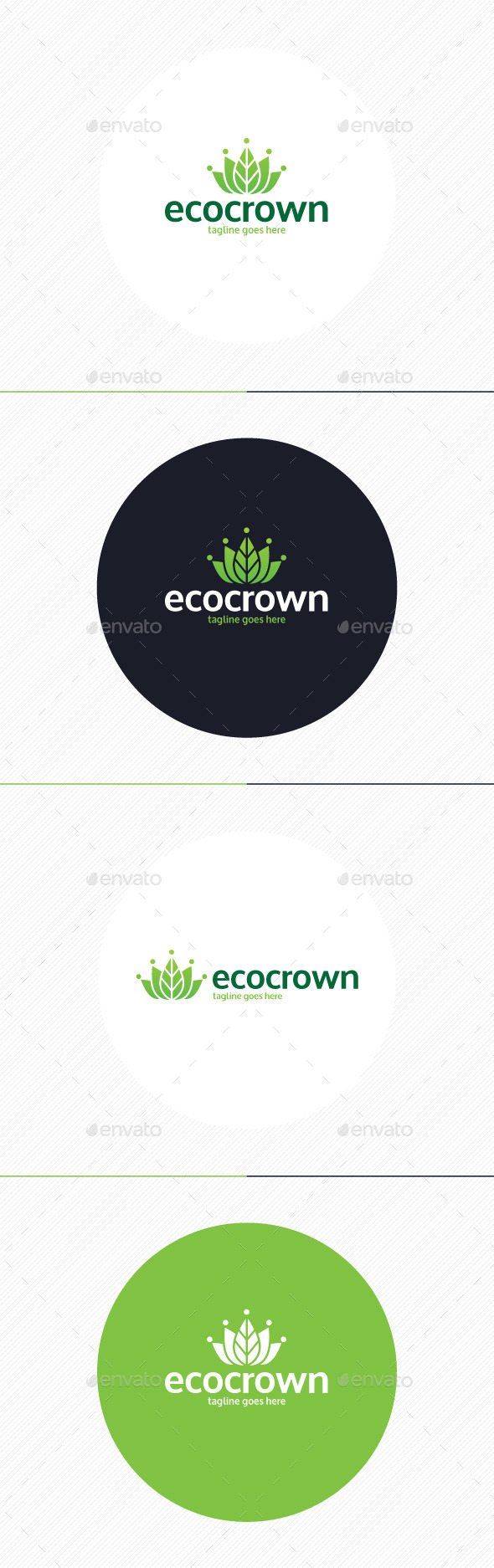 GraphicRiver Eco Crown Logo 9862014