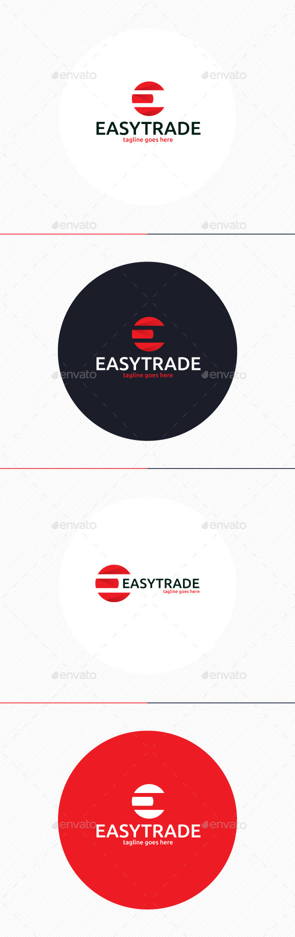 GraphicRiver Easy Trade Logo Letter E 9862199