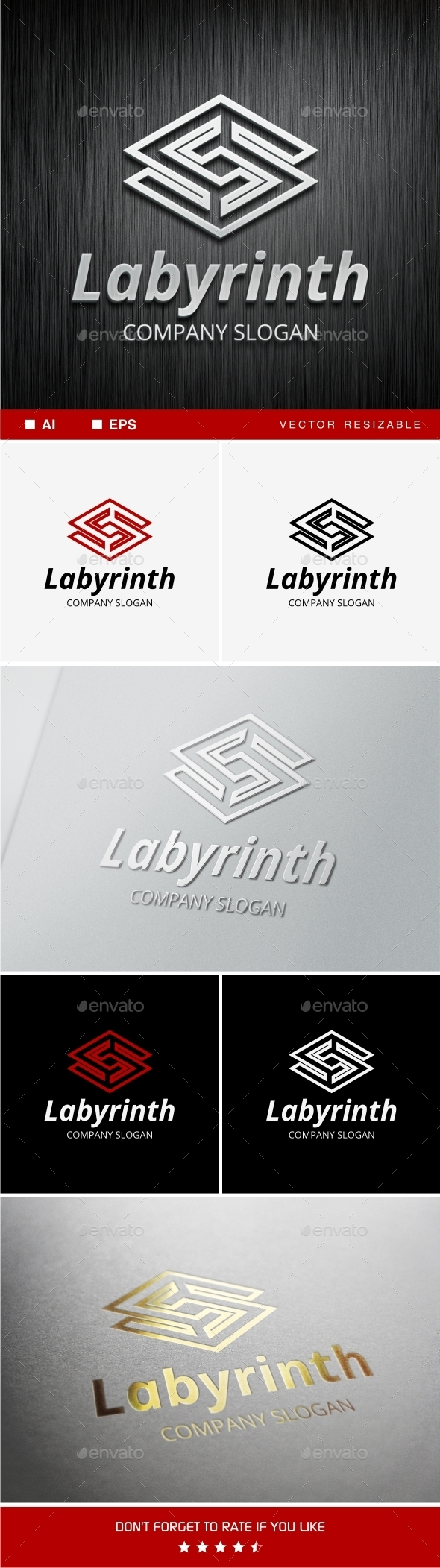 GraphicRiver Labyrinth S Letter Logo Template 9862395