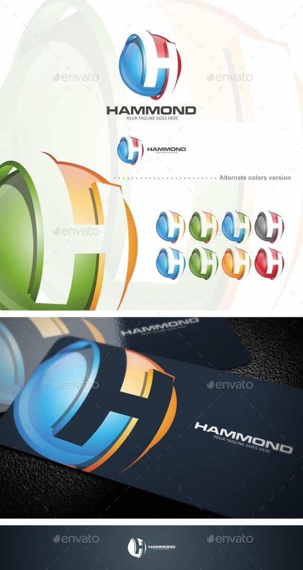 GraphicRiver Hammond H Letter Logo Template 9862447